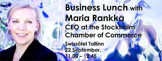 image: Welcome to meet Maria Rankka, CEO at the Stockholm Chamber of Commerce