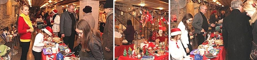 image: Traditional Christmas Market in the Swedish St Michael's Church