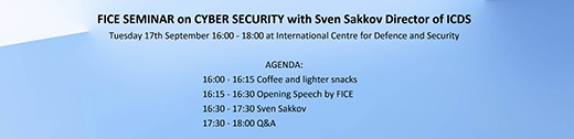 image: Seminar on Cyber Security  with Sven Sakkov, Director of ICDS