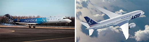 image: Nordica and LOT Polish Airlines will begin a strategic cooperation