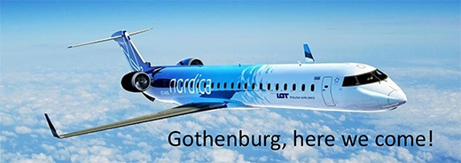 image: Welcome to join Nordica's inaugural flight to Gothenburg