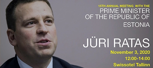 image: Speaker Luncheon with Prime Minister Jüri Ratas