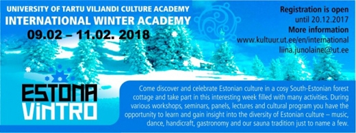 International Winter Academy ESTONA VINTRO